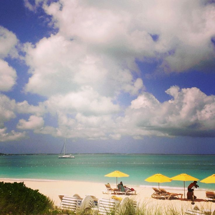 The view from Mango Reef Restaurant at Grace Bay, Turks and Caicos