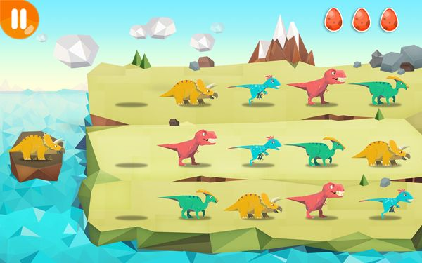 """Dinosaur"" --app game, Kizipad on Behance"