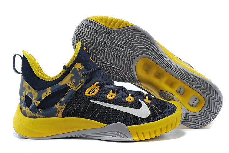 low priced 4f347 d3543 Nike Zoom HyperRev 2015 Midnight Navy Tour Yellow Metallic Silver 705370  407 Paul George PE