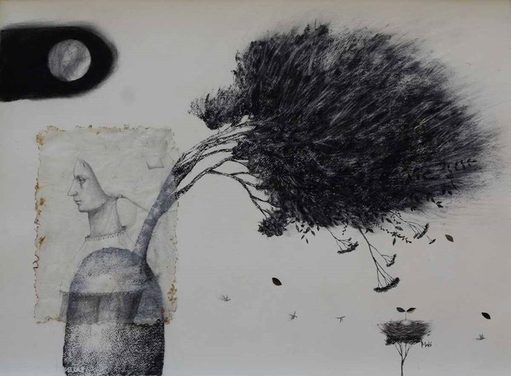 thought on a windy day by Maki Horanai   Rosebed Galleries