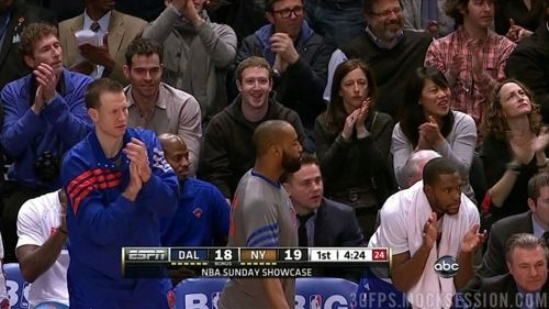 mark zuckerberg watching #linsanity.