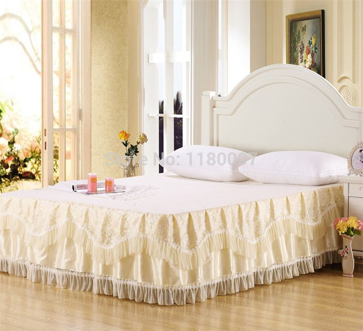 17 Best Images About Lace Bed Skirt Bedspread Bed Sheet