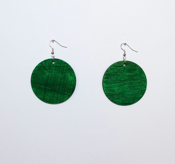 """Excited to share the latest addition to my #etsy shop: Dangle wooden earrings """" Circle """" Double color Silver 925, Gift For Her, Laser Cut Jewelry, Wooden Jewelry, Gifts for Friends http://etsy.me/2hFYPZs"""