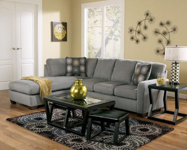 Best 25+ Gray sectional sofas ideas on Pinterest | Green living room sofas Grey and purple wallpaper and Gray couch decor : charcoal gray sectional sofa chaise lounge - Sectionals, Sofas & Couches
