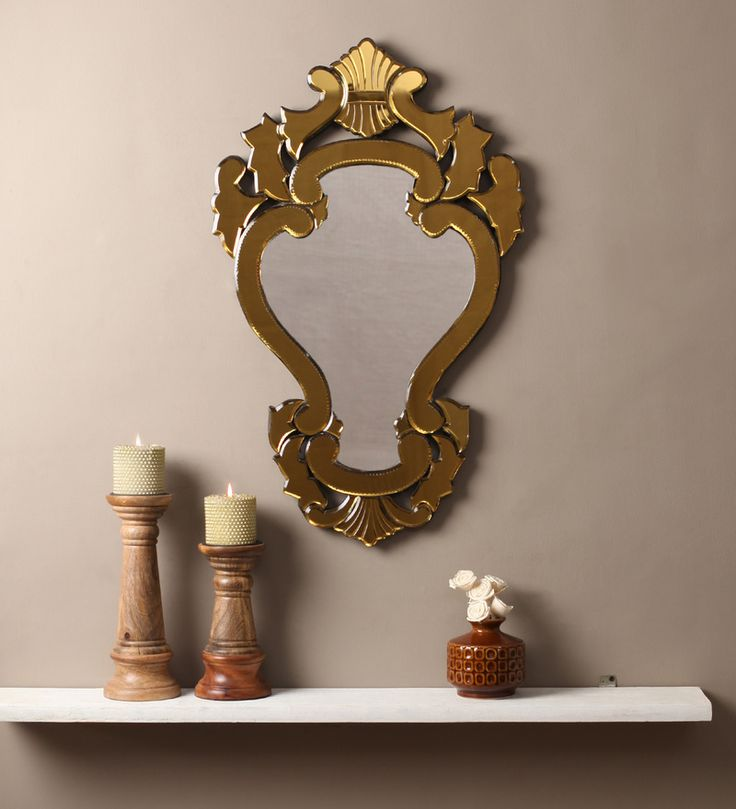 Fabio Golden MDF Mirror #mirrors #mirror #reflectors #show #pinit #pinterest #shazliving Shop at: https://www.shazliving.com/