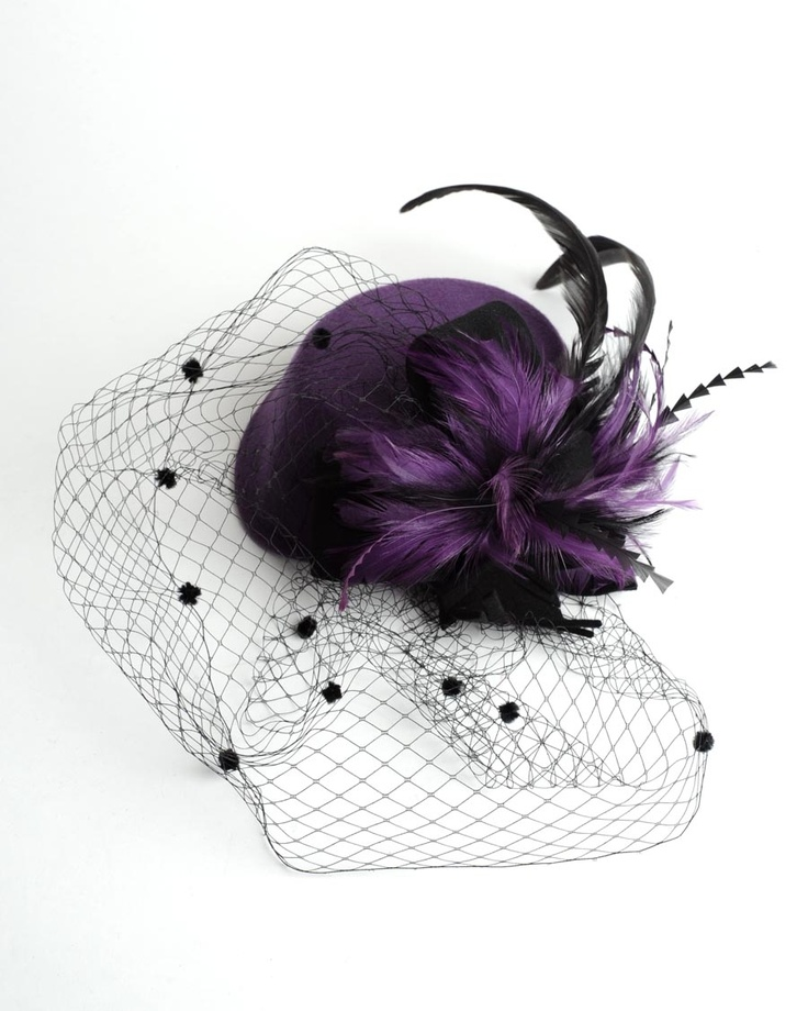 Vintage Style Mini Pill Box Hat in Purple