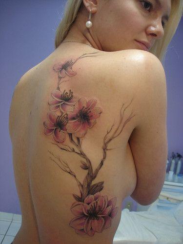 flor de cerejeira tattoo - Pesquisa do Google