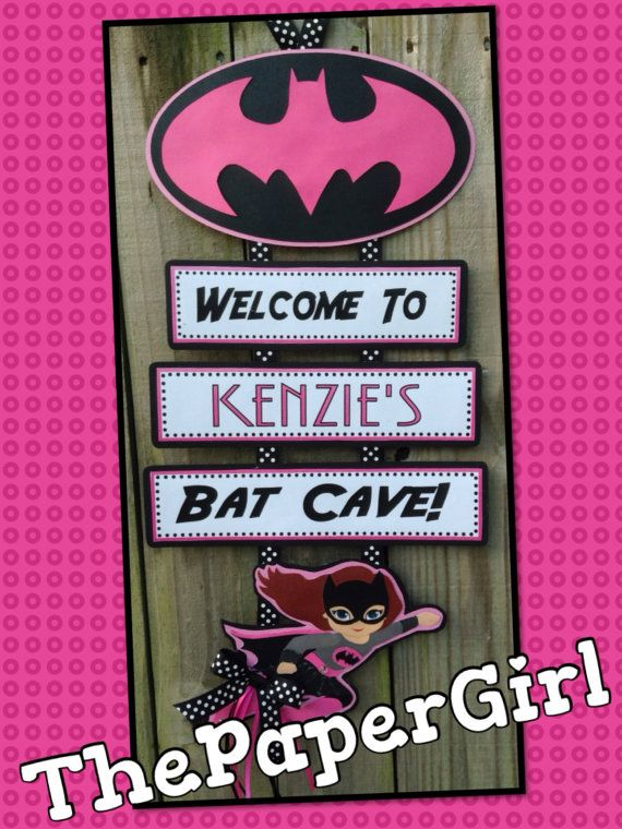 Handmade Bat Girl Birthday Party Baby Shower by ThePaperGirlbyANM