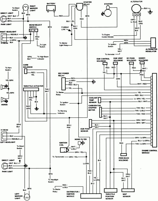 1985 Chevy Truck Fuse Box Diagram and F .l Wiring Diagrams