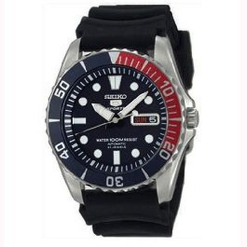 Seiko 5 Sports Automatic Rubber Strap Mens Watch Model - SNZF15K2