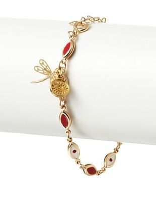 Blee Inara Linked Eye Bracelet with Dragonfly Charm