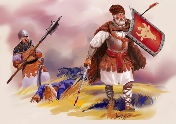 The Moldovan militia reflected the raid of the Tatars. Stefan the Great.