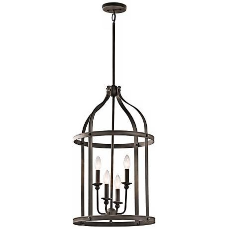 "Kichler Steeplechase 17"" Wide Old Bronze Pendant Light"
