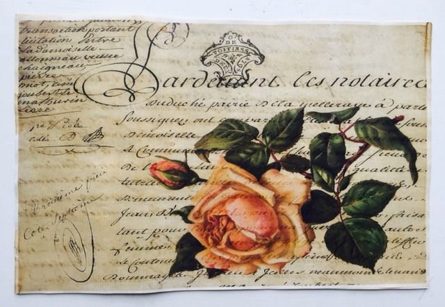 """Pink Rose Vintage Aged Papers  11"""" x 17"""""""