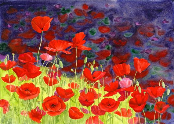 May Poppies by maryellengolden on Etsy, $20.00