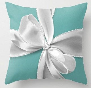 Designer Inspired Tiffany Bow Pillow by LuxuryLivingNYC on Etsy, $30.00