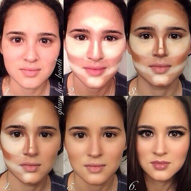 Real face demonstrates where to contour and highlight Art http://fashionandstyles.info/wp-content/uploads/2013/11/1418303_1438876193000554_1844566620_n.jpg