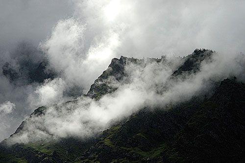 Agumbe - area with the highest rainfall.
