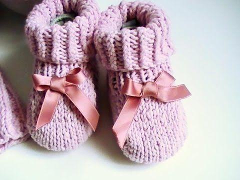 http://www.modefaitmainhandmade.com/ Tutoriel étape par étape de tricot chaussons bébé simples pour débutant. Pour un bébé de 0 à 3 mois. Bonne visite à tout...
