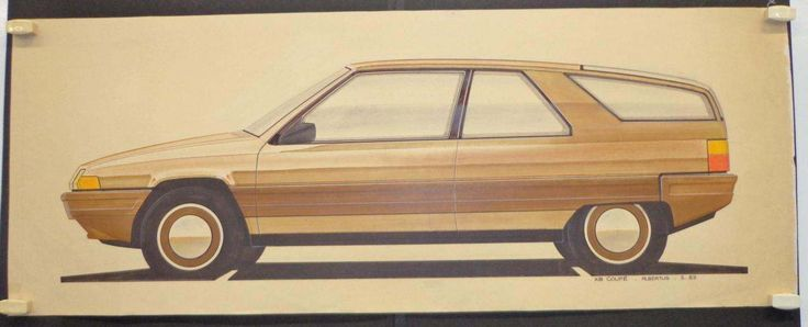 OG | 1982 Citroën BX Coupé | Design sketch by Albertus