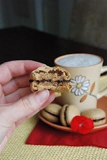 Coffee flavored macaroons