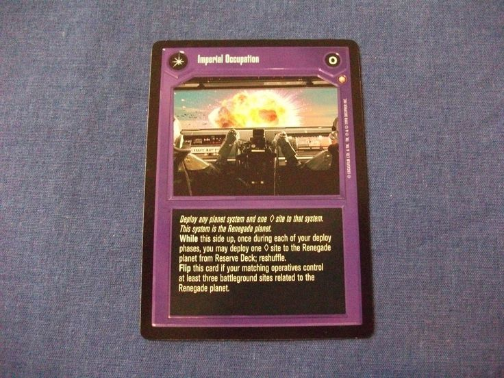 Star Wars CCG Special Edition Imperial Occupation/Imperial Control