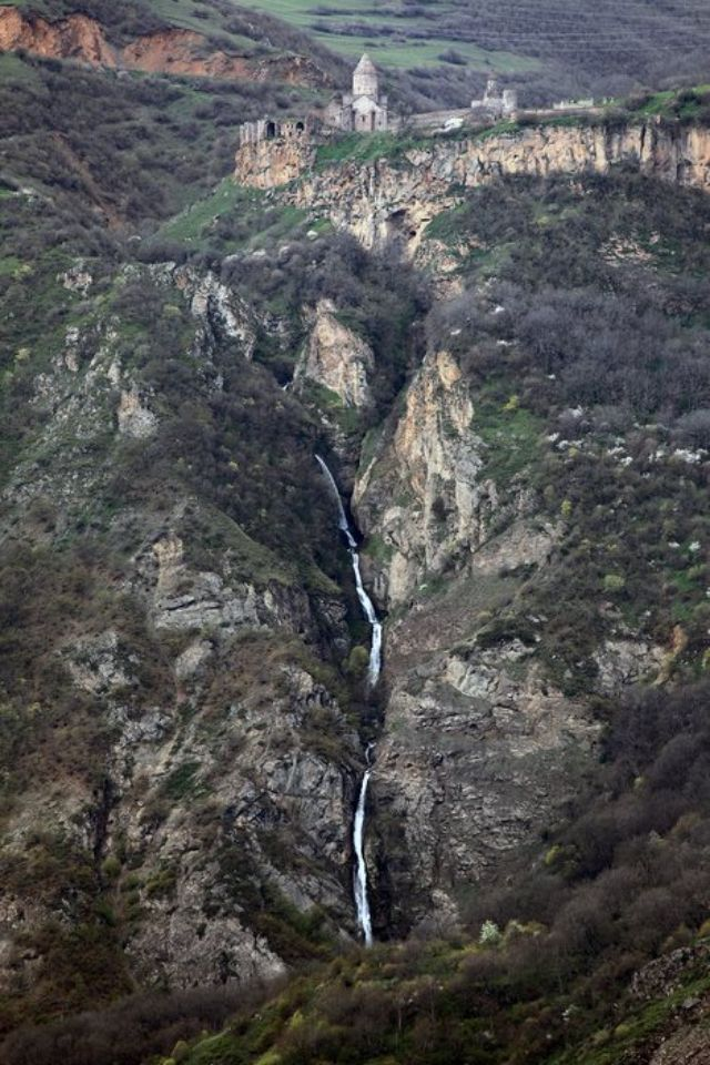 Tatev Monastery and waterfall, Armenia