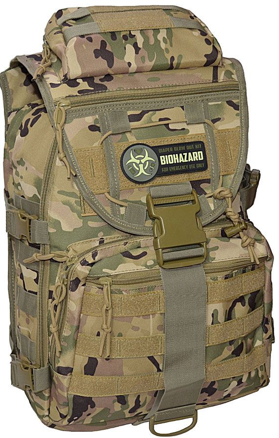 Camo DADDY DIAPER BAG Super Dad Tactical Backpack by CYCLONEXGEAR