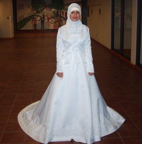 Gaun pengantin putih formal