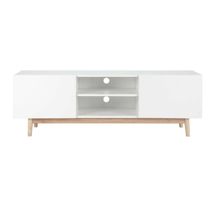 TV-Möbel im Vintage-Stil aus Holz weiß B 150cm - Artic Artic