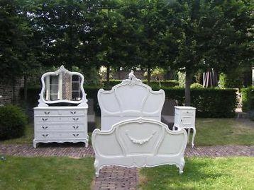 ≥ Te koop Louise Quinze witte slaapkamer - Antiek | Meubels | Bedden - Marktplaats.nl