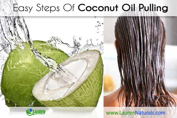 Easy steps of coconut oil pulling. #Coconutoil #Coconutoilskin #oilpulling #coconutoilpulling #coconutoiluses #oilpullingwithcoconutoil #skincare #skincareroutine #laurennaturals