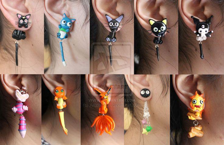 2014 Polymer Clay Earrings by ArtzieRush.deviantart.com on @deviantART
