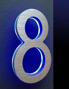 Lovely LED House Numbers Signage Apartment Number Signs modern house numbers