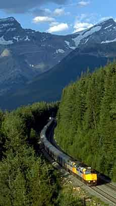 .via rail train from winnepeg manitoba-edmonton alberta then jasper alberta