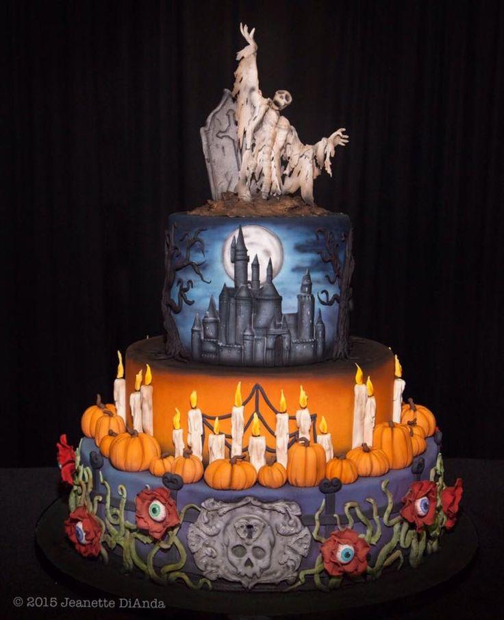 Halloween Cake Unique Cakes Pinterest Cakes