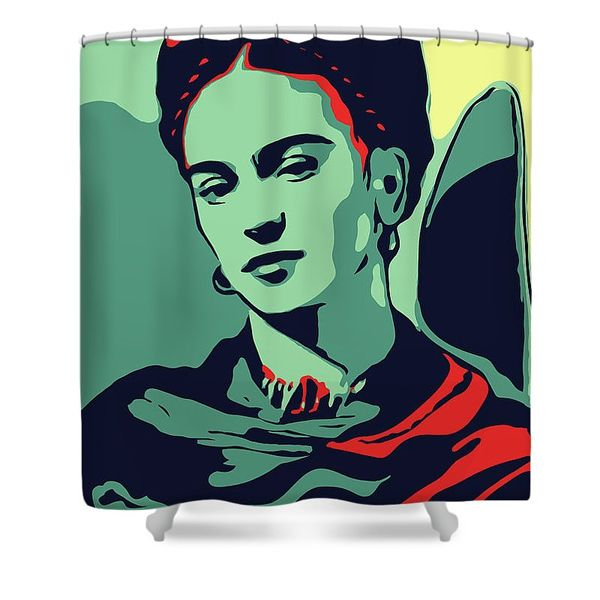 Frida Kahlo Shower Curtain Ai