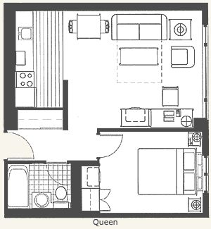hotel suites floor plans - Google Search