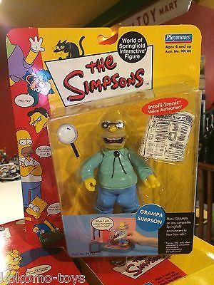 Playmates The Simpsons TV Show Action Figure MOC -  Series 1 GRAMPA SIMPSON