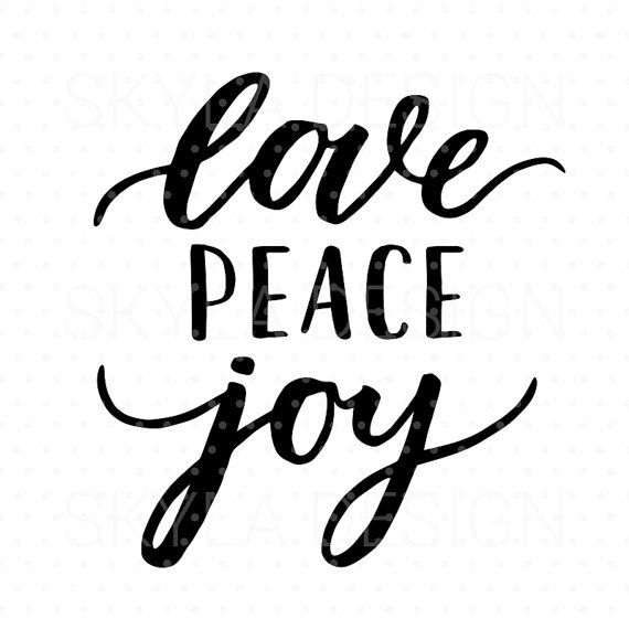 Download Love peace joy Svg, Christmas SVG file, Christmas clipart ...