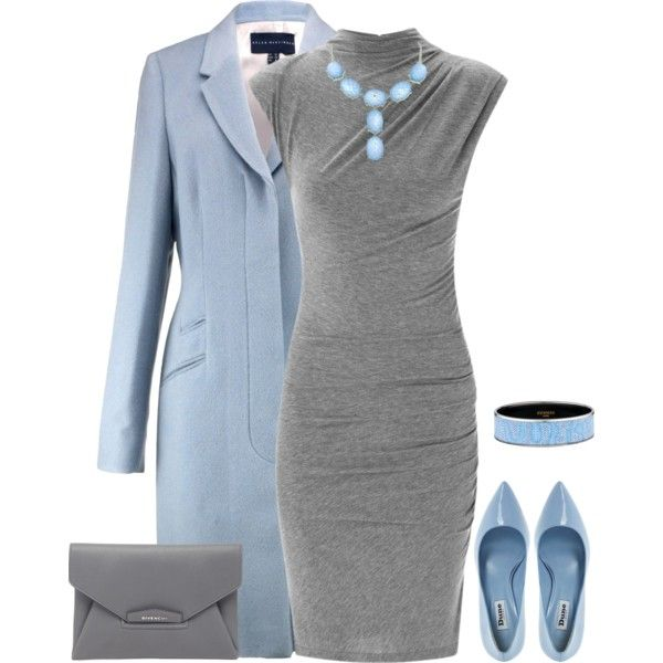 """Love the dress and purse,would do black accessories, coat and shoes """"outfit 1346"""" by natalyag on Polyvore"""