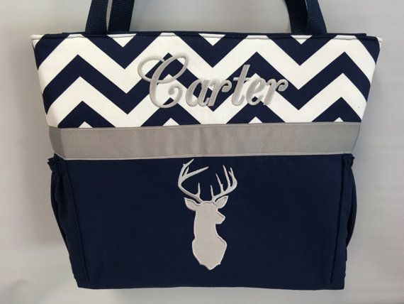 DEER  Silhouette  .. DIAPER Bag ..  Applique  ... by TweedleTotes