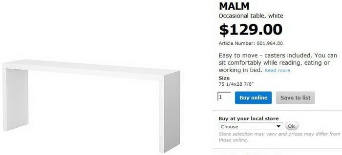 how to build an Ikea Malm occasional table for less