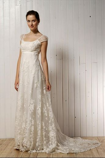 This dress with maybe lace cap sleeves instead of the current straps would be beautiful.