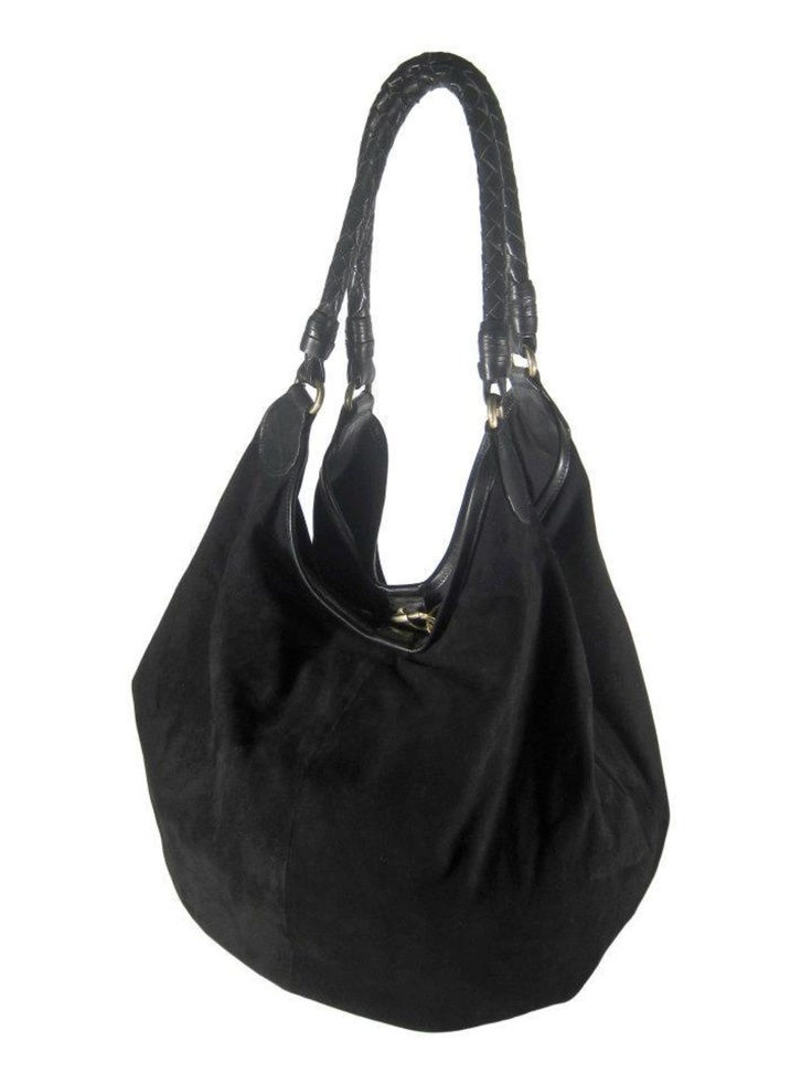 AVA Black Suede Carry All  Available at imperialhyde.com.au