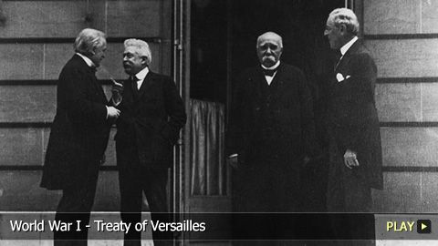 """This picture shows what is known as the """"Big Four"""" the morning they signed the Treaty of Versailles. This treaty was signed in 1919, five days after the assassination of Franz Ferdinand and effectively ended World War One.  It forced Germany to pay many reparations and set many limits on their military. Unfortunately, the Germans were angry that their leaders had agreed to such a treaty and did not abide by it, becoming one of the causes for WWII.   Link…"""