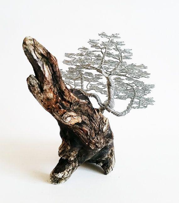 Windswept Tree / Driftwood Sculpture / Driftwood by BonsaiWireTree