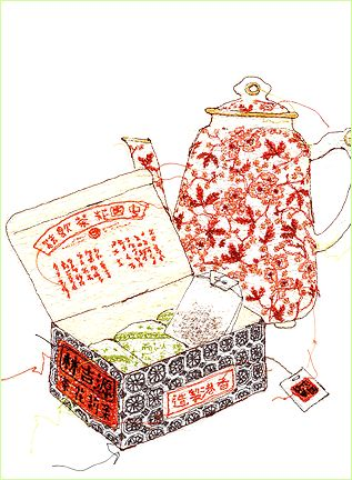 Miyuki Sakai sewing illustration, just amazing! http://www.miyukisakai.com/frameset/Frameset-portfolio.html
