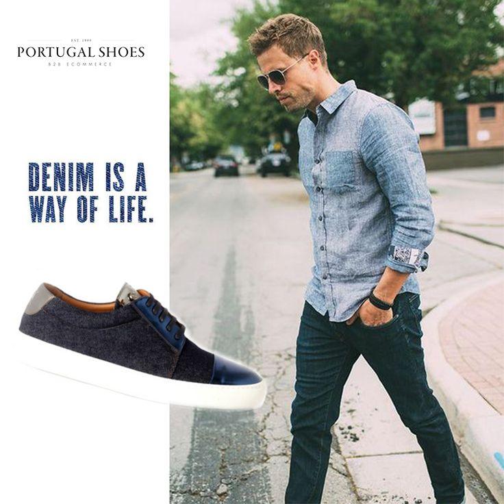 Denim #trend | Sir Wolf Shoes Sneakers: http://bit.ly/1YKU7mX