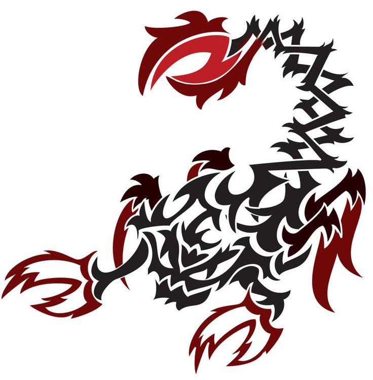 Tribal Scorpion By White Tigress 12158 On Deviantart: 30 Best Tribal Scorpion Tattoo Stencils Images On